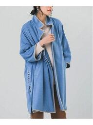 【SALE/59%OFF】パイピングポンチョコート Bou Jeloud ブージュルード コート/ジャケット ポンチョ ブルー ブラウン グレー【RBA_E】【送料無料】[Rakuten Fashion]