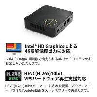 ECSWindows10Home搭載ApolloLake世代の小型デスクトップパソコンLIVAZ-8/120-W10(N4200)TS
