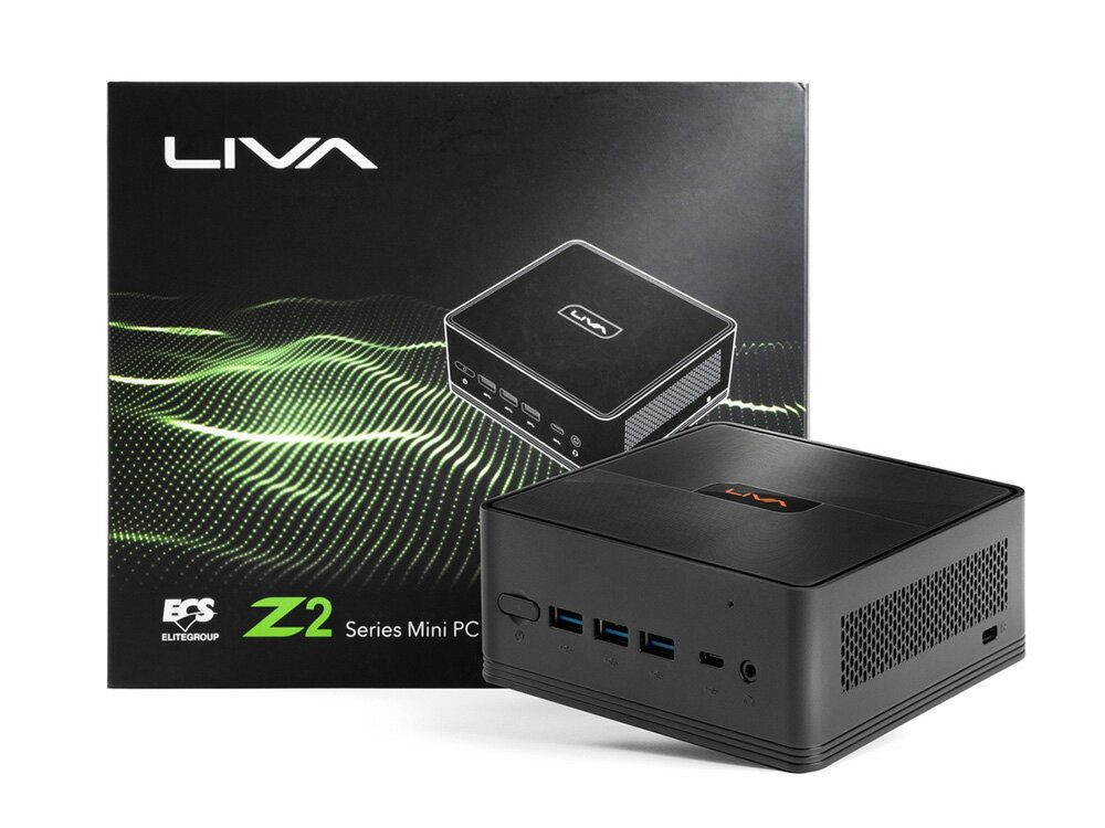 ECS Windows 10 Proを搭載した小型デスクトップパソコン LIVAZ2-4/64-W10Pro(N5000) メモリ4GB ストレージ64GB