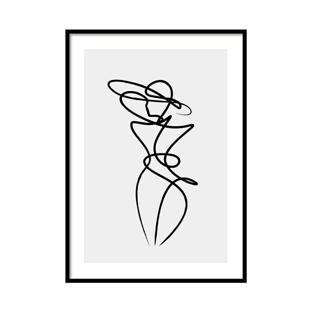【モダン】線画アート アートポスター【A2】A0068【北欧】LINSL(リンスル)