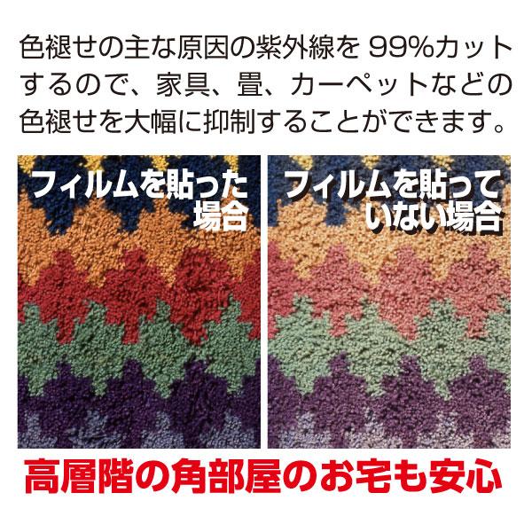 窓UVカットハイグレード版 UV400カットフィルム 紫外線カットフィルム 無色透明タイプUV波長域300~400nmカット Lサイズ
