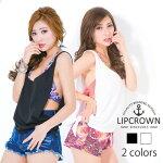 【カラバリ2色】LIPCROWNデザインタンクトップ【オリジナル】