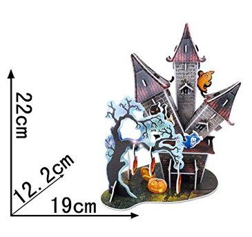 [3Dクラフト・ハロウィン・キゥッスル B368-5](3Dクラフト 知育 パズル 立体 おもちゃ 玩具 3dパズル クラフト インテリア 雑貨 立体模型)【SUMMER_D1808】 クリスマス プレゼント