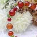 パワーストーン 天然石ブレスレット<紅のブーケ>(赤めのう/カーネリア...