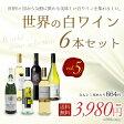 世界の白ワイン6本セット Vol.5750ml×6本【佐川急便送料無料】