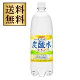 【2ケース送料無料】サンガリア 伊賀の天然水炭酸水 レモン 1000ml(1L)×24本(2ケース)【北海道・沖縄県は対象外となります。】