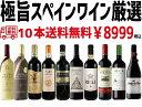【送料無料】ワイン セット スペインワイン厳選10本絶品の長期熟成グランリゼルバ2本入り!【北海道・東北・四国・九州・沖縄県は必ず送料がかかります】