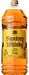 サントリーウイスキー 角瓶 1本 4L<ペットボトル>【ご注文は1ケース(4本)まで同梱可能です】