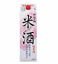 沢の鶴 米だけの酒<紙パック> 1.8L 1本【ご注文は2ケース(12本)まで同梱可能です】