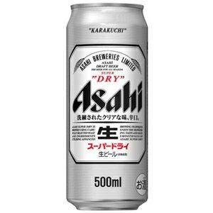 ビール   アサヒスーパードライ500ml缶1ケース(24本入り) 東北・北海道・沖縄・離島の一部を除く(東北は400円北海道