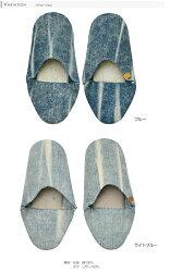 ルームシューズ靴スリッパデニムファブリックヴェント-7vento【小型商品】【】