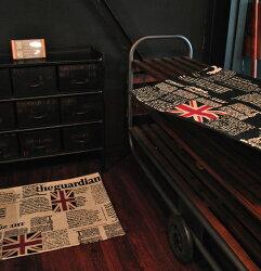ヴィンテージビンテージカーペットラグマット絨毯英字文字英国英語イギリスジョルナ約100×140cm長方形【小型商品】【】【smtb-k】【w1】