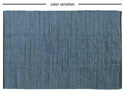 ラグマットヴィンテージインド綿コットンデニム男前ラグ西海岸ベルガ約50cm×80cm【デニム西海岸男前柄刺繍じゅうたん絨毯玄関】【◎】注)一点一点色合いが違います。