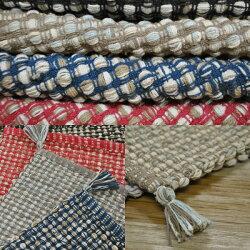 ラグマット絨毯刺繍キリム柄ファブリックリサイクル糸使用アルバダ約50cm×80cm【オリエンタルキリム柄刺繍じゅうたん絨毯玄関】【◎】注)一点一点色合いが違います。