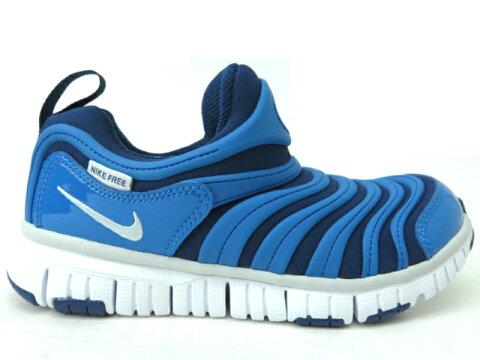 NIKE ダイナモフリーPS 343738 BLUE子供靴 ナイキ スニーカー ジュニア スニーカーキッズ スリッポン 紐なし 子供靴 運動靴 【ブルー (435)】