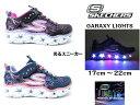 SKECHERS スケッチャーズ GARAXY LIGHTS 10920Lキッズ ジュニアスニーカー 光る靴 紐なしライ