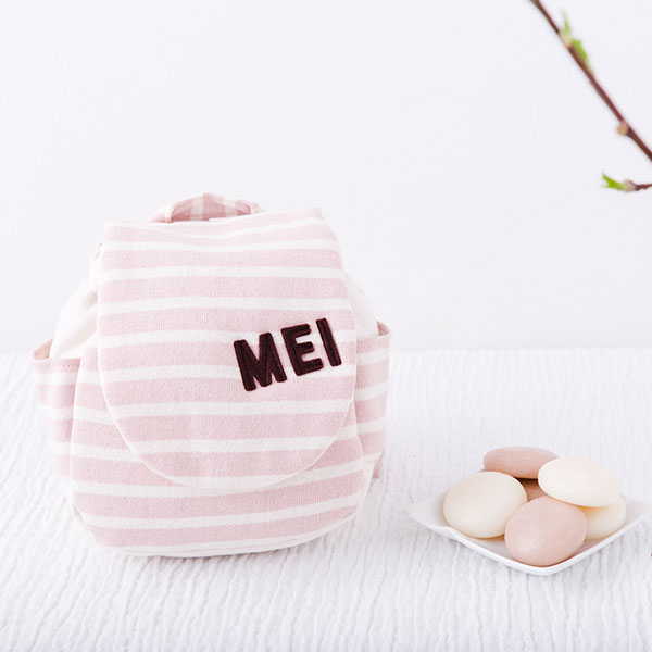 名入れベビーリュック&一升餅セット(小分け50個) 1歳誕生日 メモリアルボックス入り1歳誕生日一升餅セット一升餅リュックお誕生