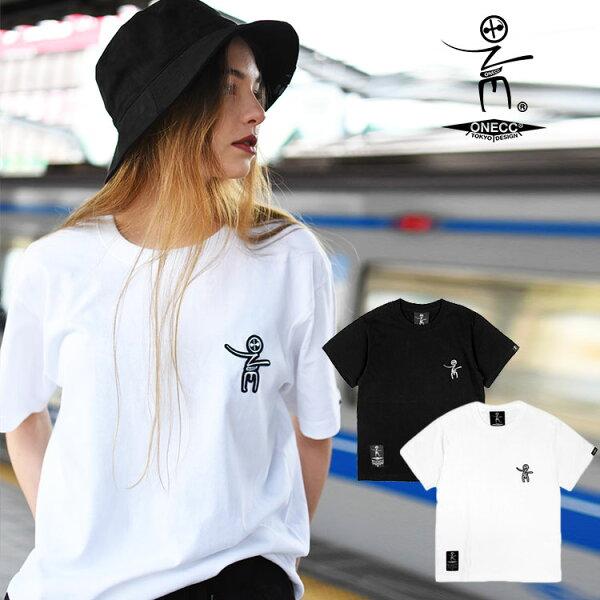 只今セール中  ONECC 日本製定番Tシャツブランド半袖100%コットン厚手クルーネックロゴブラックホワイトカジュアルFサイ