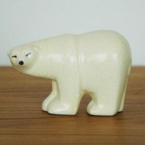 Lisa Larson(リサラーソン)Polar Bear(シロクマ)・ミニサイズ/スウェーデン北欧オブジェ/置物【送料無料】【HLS_DU】【RCP】