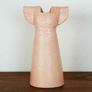 Lisa Larson リサラーソン ワードローブ ドレス ピンク スウェーデン フラワーベース 北欧 オブジェ 置物 花瓶【HLS_DU】【RCP】