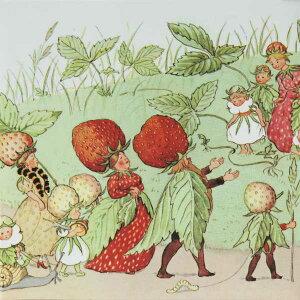 ElsaBeskow(エルサべスコフ)マグカップ・TheStrawberryfamily(ストロベリーファミリー)・DESIGNHOUSEstockholm(デザインハウスストックホルム)スウェーデン/北欧食器