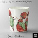 ElsaBeskow(エルサべスコフ)カップTheStrawberryfamily(ストロベリーファミリー)DESIGNHOUSEstockholm(デザインハウスストックホルム)スウェーデン/北欧食器