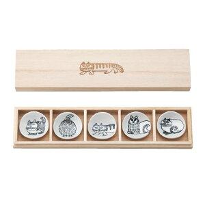スケッチシリーズ木箱入箸置き5個セットLisaLarson(リサラーソン)