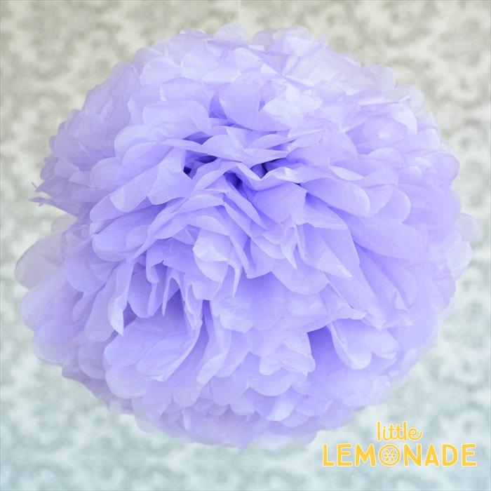【ティッシュフラワー】【フラワーポム】ビッグポンポン35cm ライトパープル【メール便可】 【薄紙 お花の飾り フラワー Flower light Purple 紫 ラベンダー】あす楽 リトルレモネード