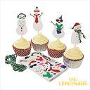 あす楽!【meri meri メリメリ】カップケーキキット スノーマン 雪だるま【be jolly snow man cupcake kit】クリスマスパーティーのスイーツやギフトに リトルレモネード