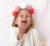 あす楽!【MeriMeri メリメリ】毛糸のポンポンのプリンセスクラウン【ティアラ パーティー 女の子 ピンク 赤 白 誕生日 バースデイ 装飾 ヘアバンド 小物 カチューシャ】 リトルレモネード