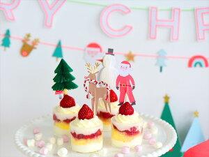 【Meri Meri クリスマス】 パーティーピック4種セット12本入り ケーキトッパー サンタクロース、クリスマスツリー、トナカイ、雪だるまの4デザイン入りフードピック【Christmas Xmas クリスマスパーティー パーティー 】 あす楽 リトルレモネード