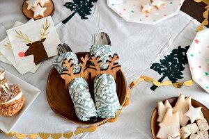 あす楽!【MeriMeriメリメリ2017クリスマス】トナカイペーパーナプキン16枚入り【ChristmasクリスマスXmasクリスマスパーティー使い捨てペーパータオルSantaサンタクロース柄テーブルウェアホームパーティー】リトルレモネード