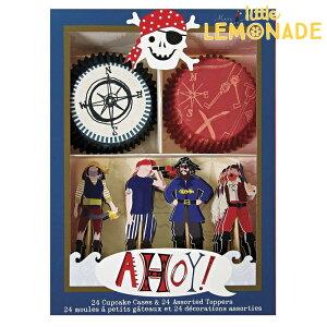 あす楽!【meri meri メリメリ】 カップケーキ キット 海賊 パイレーツ 【Pirate】【トッパー付ベーキングカップセット】【パーティーのスイーツに】
