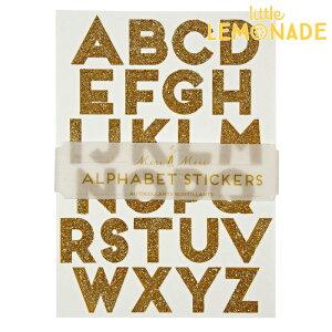 あす楽!【meri meri メリメリ】アルファベット グリッター シール ゴールド キラキラシール【alphabet glitter stickers】DIY ラッピング ラベル レター ステッカー