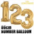 ネコポスOK【数字バルーン】約90CMのビッグナンバーバルーン 【ゴールド】お誕生日のお祝いの飾り付けに 【バースデイ パーティーデコレーション フィルム風船】【ネコポス発送可】