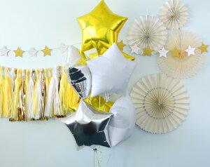 あす楽!【mymind'seyeマイマインズアイ】ベーシックペーパーファンセット/アイボリーBASICSPARTYFANS-IVORY-【ペーパーファンホームパーティーパーティー装飾飾り付け誕生日】
