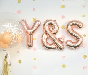 ネコポスOK【文字の風船】スモール40CMアルファベットバルーンU-Z【ローズゴールド】お誕生日のお祝いの飾り付けに【バースデイパーティーフィルム風船】英語レターバルーン【ネコポス発送可】