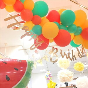 あす楽!【風船】バルーンガーランドDIYキット色が選べるスタンダードカラーミックスSTANDARDCOLORMIX1メートル【パーティーデコレーションゴム風船balloongarlandポンプ付きリトルレモネード