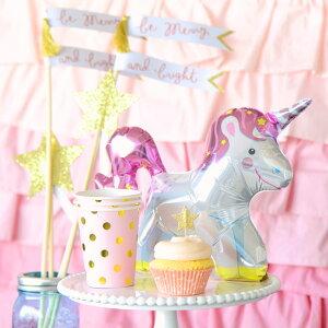 あす楽!【sambellina】ペーパーカップピンクxゴールドドット柄紙カップ12個入り【パーティー用紙コップ】誕生日ホームパーティーイベントデコレーション1歳誕生日PARTYPINKGOLD