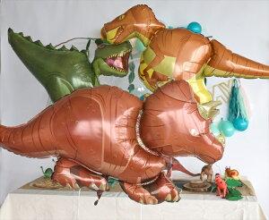 あす楽!【送料無料】トリケラトプスバルーン恐竜ドラゴンダイナソー【浮かせてお届け】ヘリウムガス入り男の子が喜ぶお祝い誕生日バースデイパーティー風船ディスプレイレセプション装飾リトルレモネード