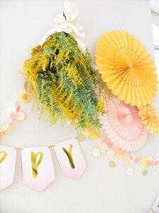 あす楽!【mymind'seyeマイマインズアイ】ベーシックペーパーファンセット/イエローBASICSPARTYFANS-YELLOW-【ペーパーファンホームパーティーパーティー装飾飾り付け誕生日】リトルレモネード