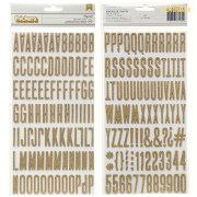 アルファベット ゴールド ステッカー ミニサイズ フォント ラッピング スクラップブッキング クリスマス レモネード