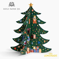 【RIFLE PAPER】クリスマスツリー・アドベントカレンダー クリスマスまでのカウントダウン X'mas Christmas インテリア ギフト Advent calendar ACX002 ライフルペーパー あす楽 リトルレモネード