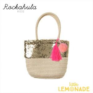 【Rockahula Kids】】Sequin Pom Pom Basket/ポンポンかごバッグ かばん 夏 女の子 誕生日 プレゼント ギフト ロッカフラキッズ あす楽 リトルレモネード 21SS