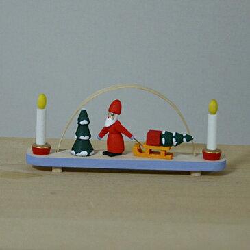 【クリスマス用品】ミニアーチ・ツリーを運ぶサンタ[ Christmas:クリスマス ]