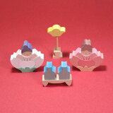 【小黒三郎・ひな人形・入荷!】桜の花坐りびな(小)【楽ギフ_包装】【楽ギフ_のし】