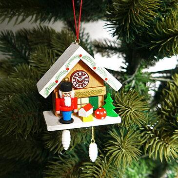 【クリスマス用品 】 ULBRICHT:ウルブリヒト・家時計・くるみ割り[ Christmas:クリスマスオーナメント ]