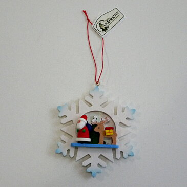 【クリスマス用品】ULBRICHT:ウルブリヒト・雪の結晶:サンタとトナカイ[ Christmas:クリスマスオーナメント ]