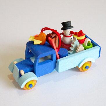 【クリスマス用品 】Graupner:グラウプナー・雪だるまのトラック[ Christmas:クリスマスオーナメント ]