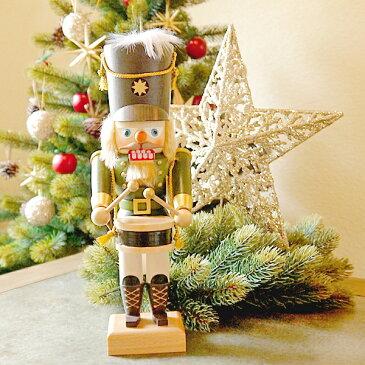 【クリスマス用品・入荷しました!】ULBRICHT:ウルブリヒト・くるみ割り人形:緑の服のドラマー[ Christmas:クリスマスオーナメント ]